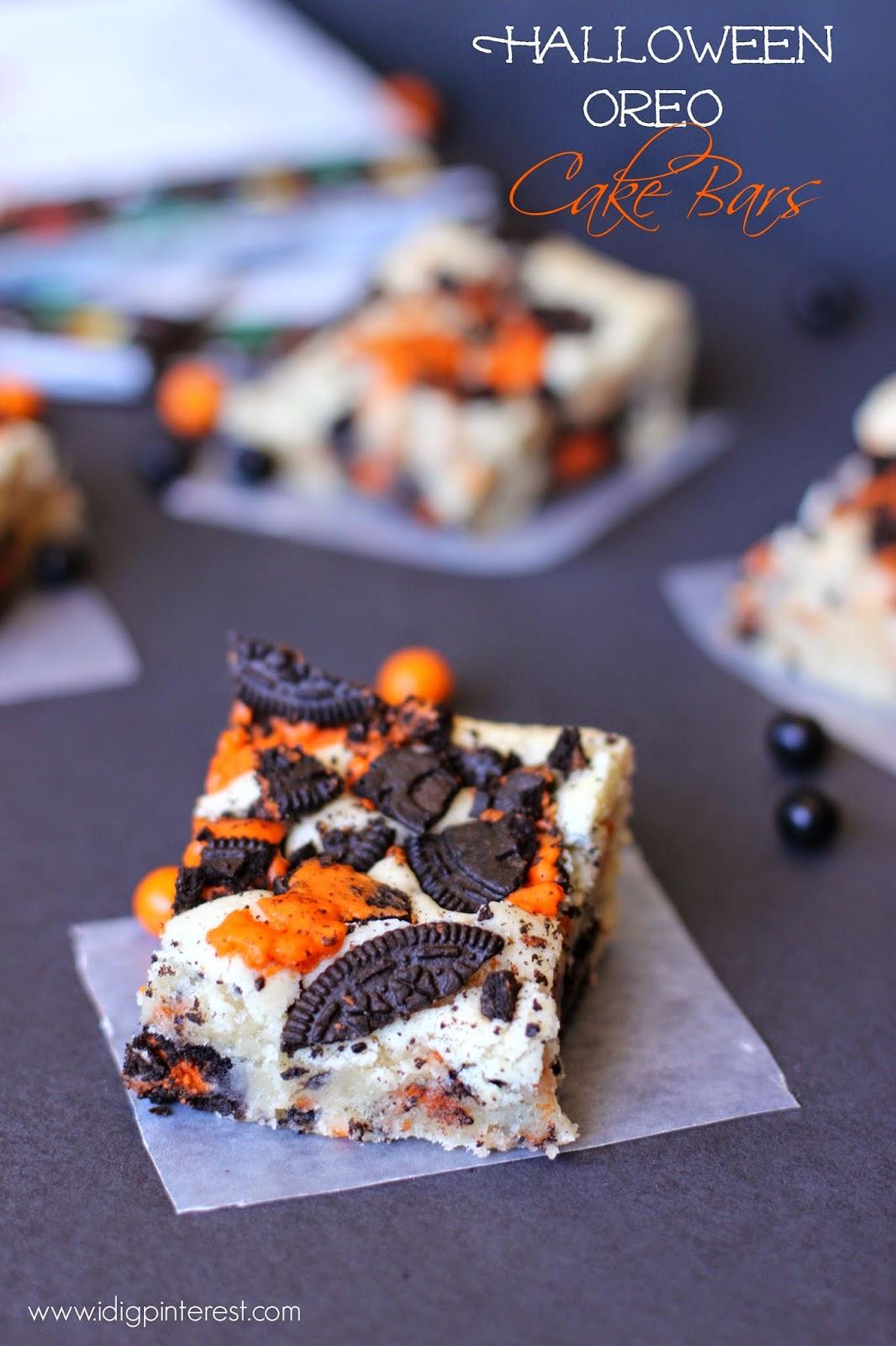 Halloween Oreo Cake Bars - I Dig Pinterest