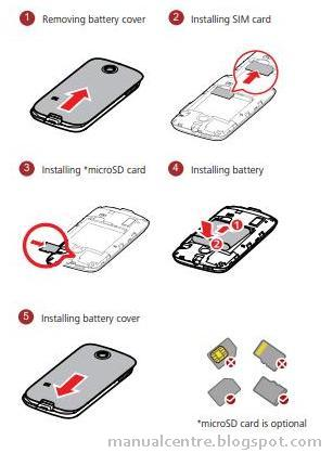 tutorial Installing SIM card, MicroSD and Battery