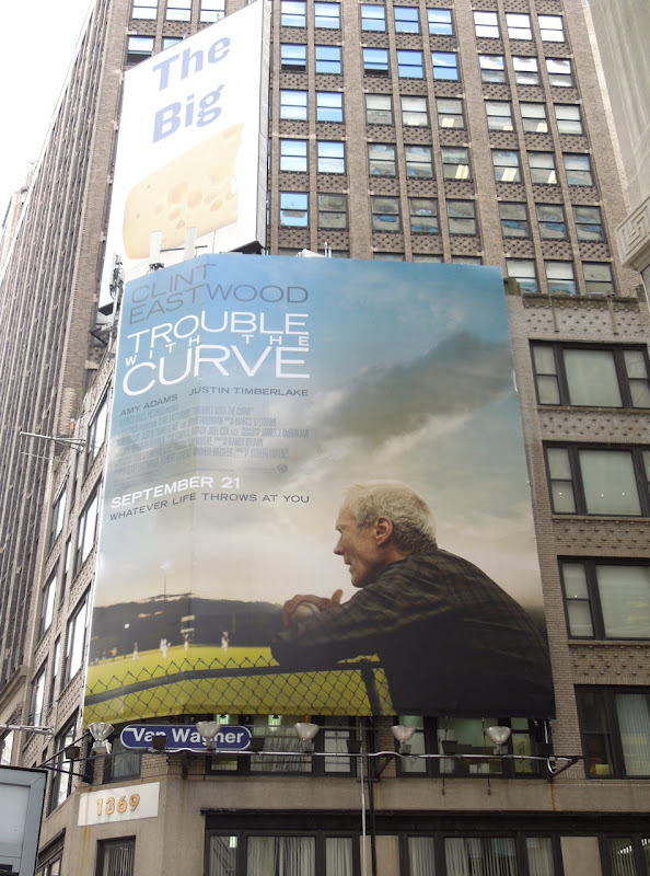 Trouble with Curve billboard NYC