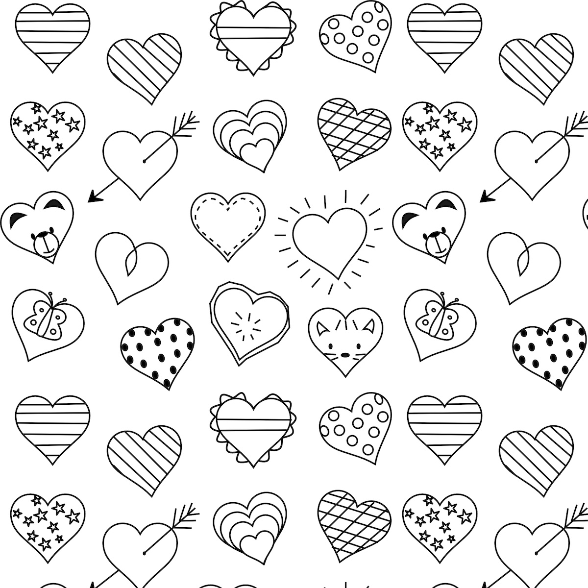 Dynamite image pertaining to heart coloring pages printable