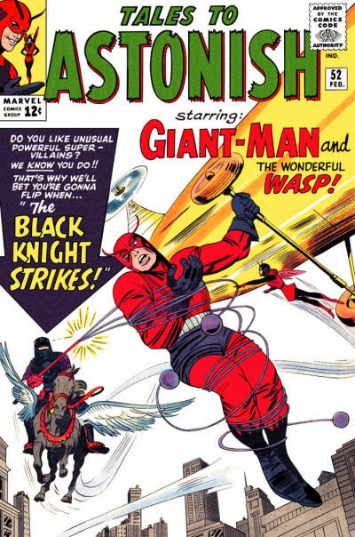 Tales to Astonish #52, Giant-Man and the Wasp vs the Black Knight