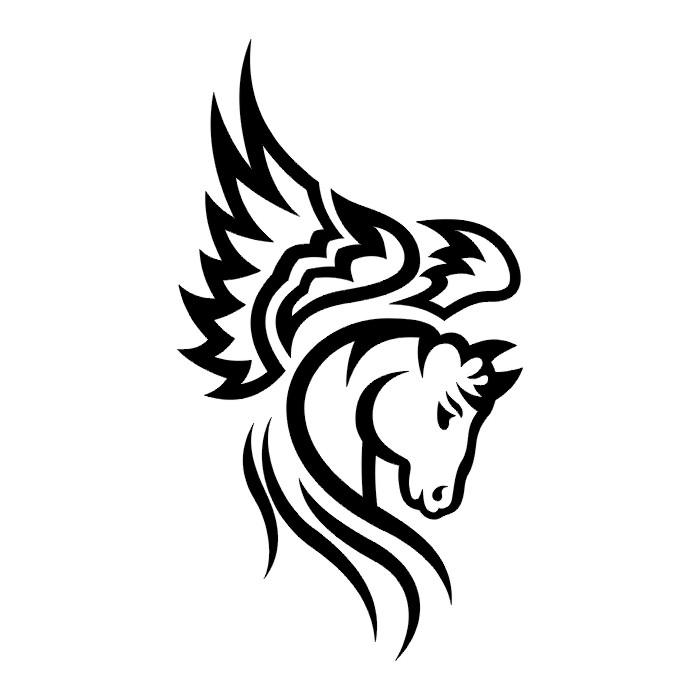 Wild Tribal Horse Tattoo