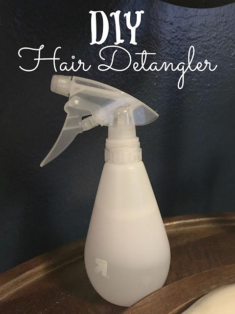 DIY Hair Detangler Spray, easy detangler recipe, detangler with essential oils, lavender detangler spray, Make your own hair detangler
