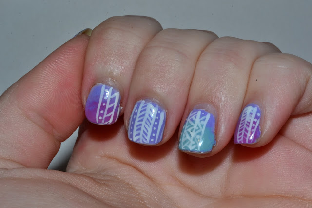 Pastel Tribal Nails by Elins Nails