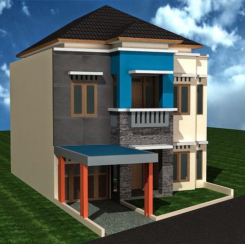 Gambar Desain Rumah Mewah Minimalis 2 Lantai Type-70
