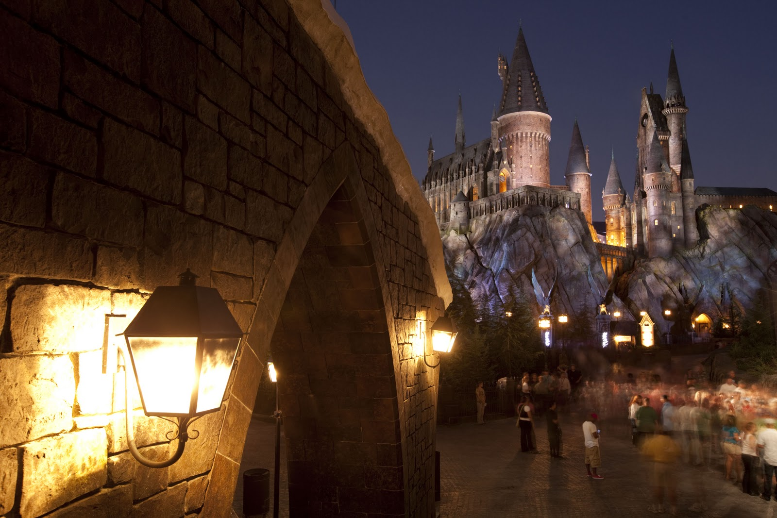 Hogwarts Castle at night. Photo: Universal Orlando Resort