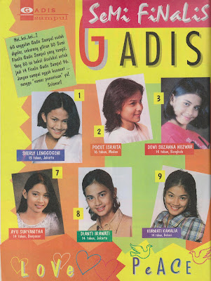 Semifinalis Gadis Sampul 1996 | Boy Cover
