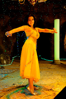 Asha Saini HQ Pics Item Song Dacning Stills in Yellow Skirt