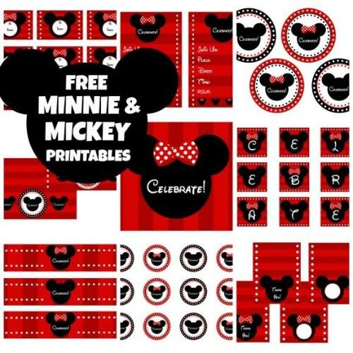 Σετ προς εκτύπωση Mickey