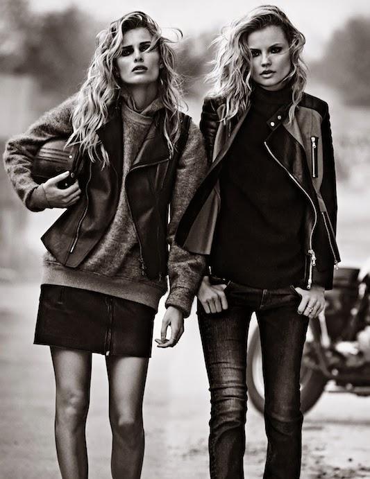 Magdalena Frackowiak and Edita Vilkeviciute for Lachlan Bailey, W Magazine, September 2013