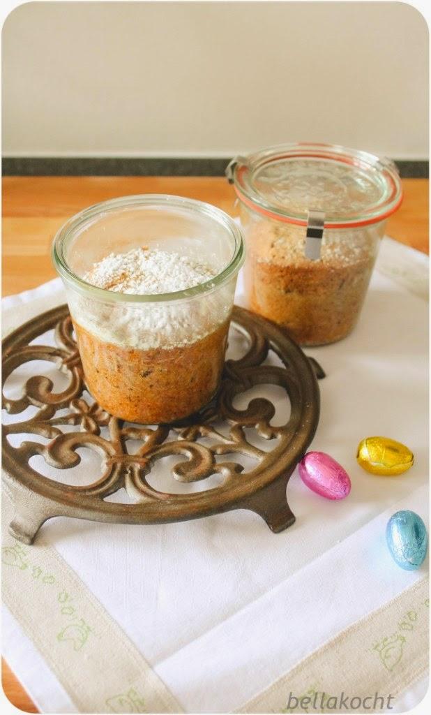 Mandelkuchen im Glas