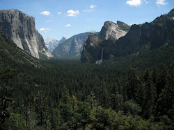 The view of Yosemite Valley.
