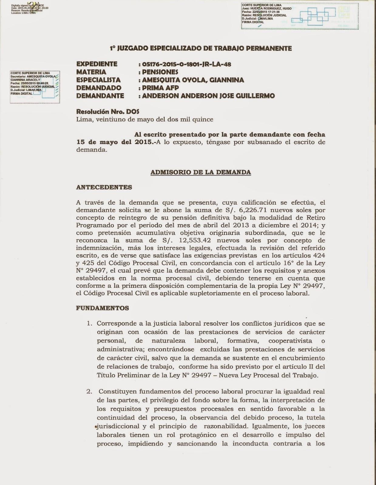 Nuevo Código Procesal Penal - Una Lectura Fácil: DEMANDA contra ...