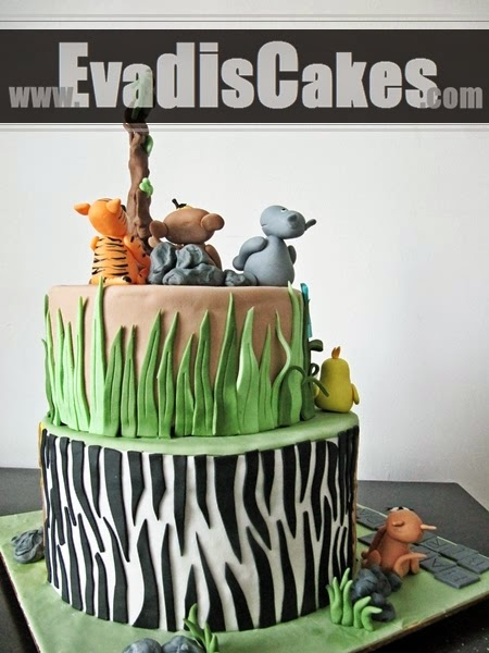 Cake on Zebra pattern design