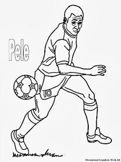 Mewarnai Gambar Pemain Sepak Bola Pele