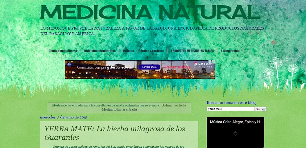 TODO SOBRE MEDICINA NATURAL DEL PARAGUAY Y AMERICA