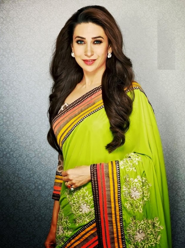 Indian Saree Designs From Online Stores Collection 2013 Karishma Kapoor Bollywood Celebrity Sari