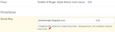 Siapkan URL Pihak ke-3 untuk blog Anda