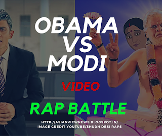 Obama Modi Rap Battle