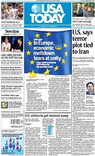 OS EUA ASSISTEM AO DESMORONAR DA UE