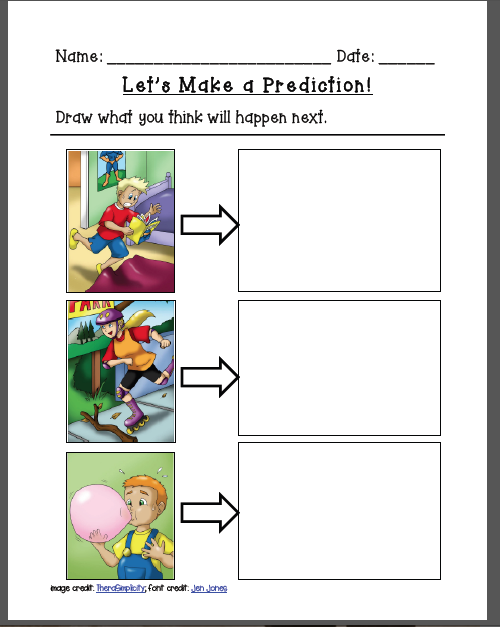 Printables Making Predictions Worksheets worksheet davezan prediction davezan
