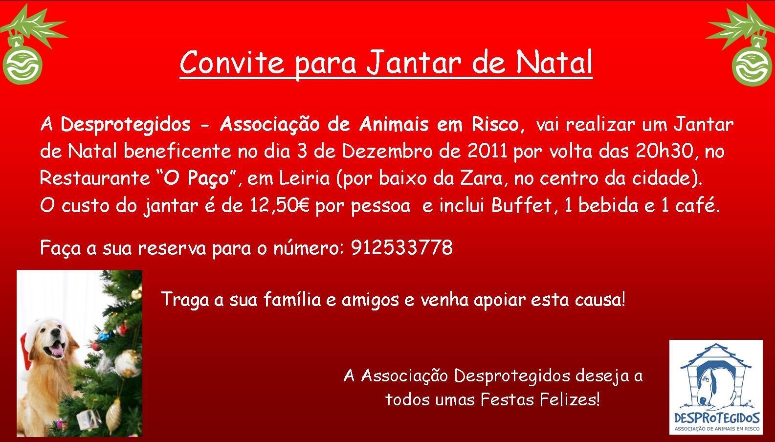 DESPROTEGIDOS: Convite Jantar de Natal #8B0100 1585x904