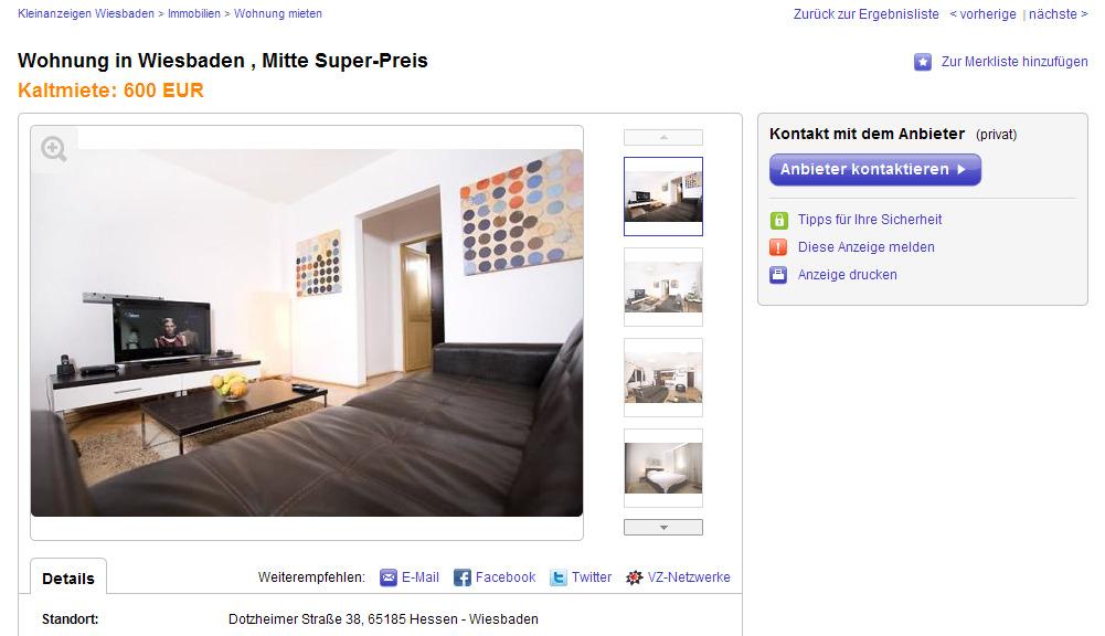 wohnung in wiesbaden mitte. Black Bedroom Furniture Sets. Home Design Ideas