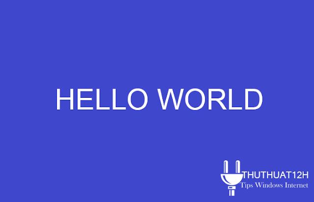 Viết chương trình Hello trong Java
