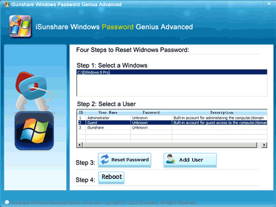 remove windows 8 password with recovery tool