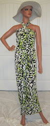 Beach Sarong in Lime Cheetah