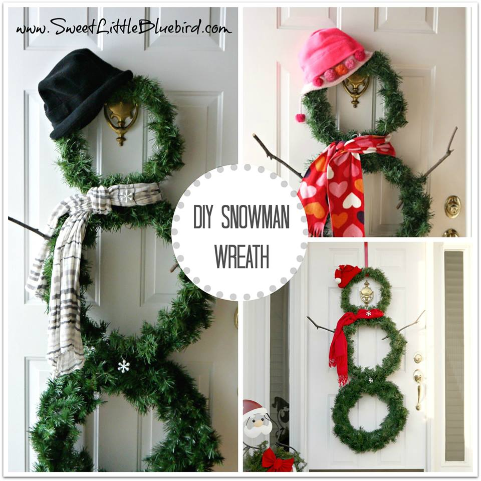 DIY Versatile Snowman Wreath For Winter Decor Sweet