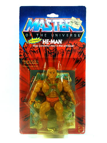 VINTAGE MASTERS OF THE UNIVERSE - HE-MAN - 12 BACK