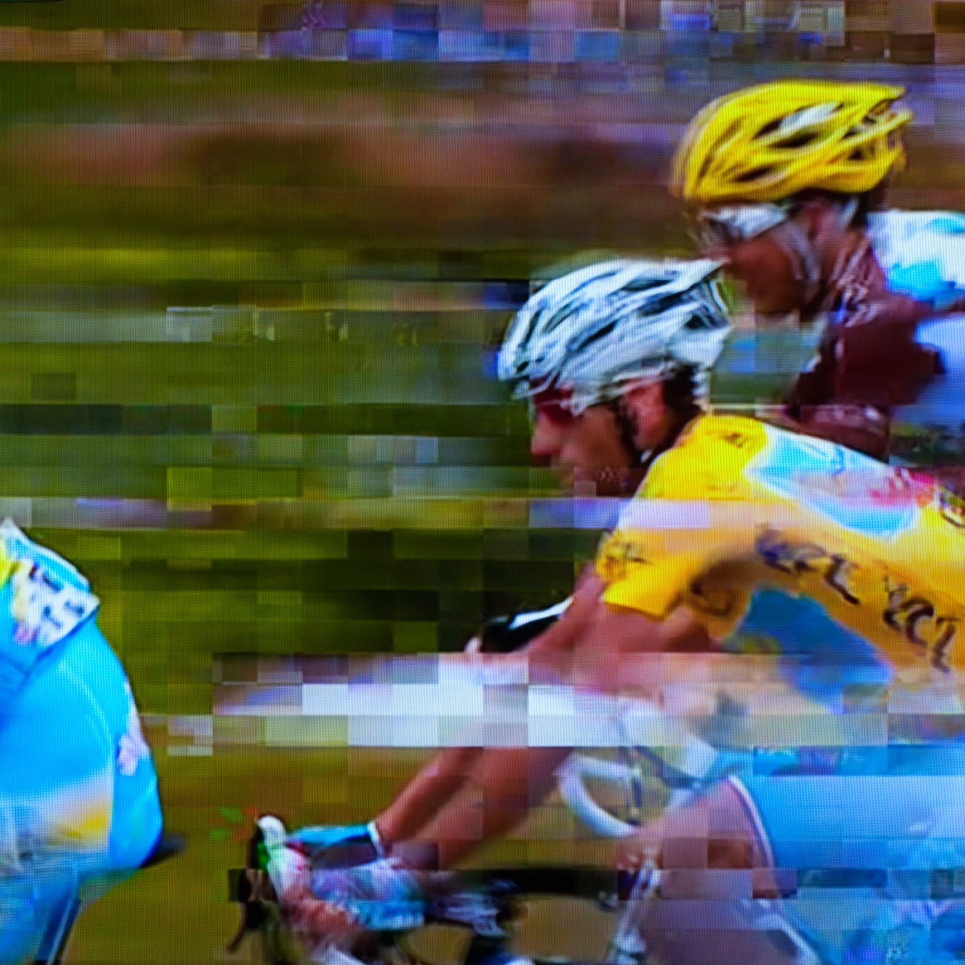 glitch, tim macauley, you won't see this at MoMA, le tour de france, 2014, abstract, abstraction, tv coverage, signal loss, noise to signal ratio, photographic art, graphic, digital, noise, signal, Vincenzo Nibali