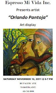 Pantoja Paintings Sound Gallery Exhibition, November 12, 2011