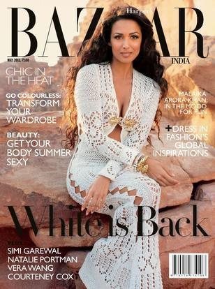 , Malaika Arora Khan On Harper Bazaar Magazine Cover May 2011 Edition