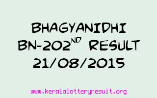 BHAGYANIDHI BN 202 Lottery Result 21-8-2015