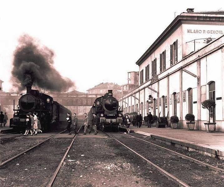 Milanoneisecoli quando la ferrovia circondava la zona - Carabinieri porta genova milano ...
