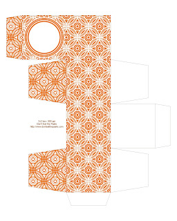 orange printable gift box