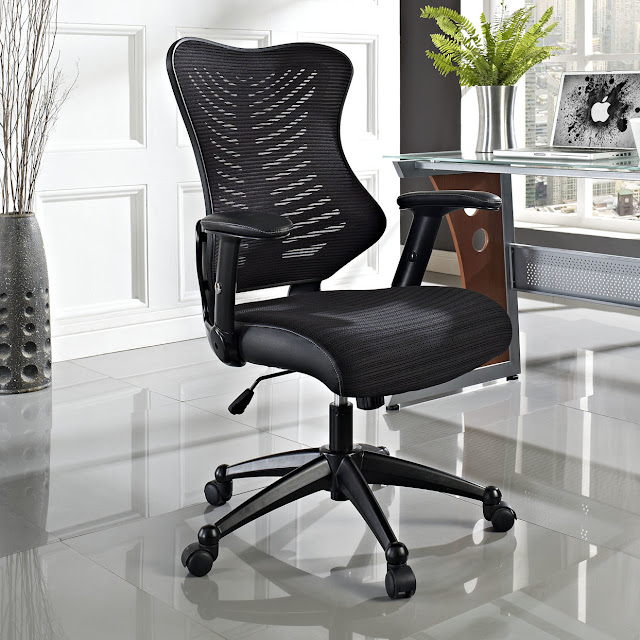awesome black high end office chairs completed with black arm stool and wheel on gray polished concrete floor