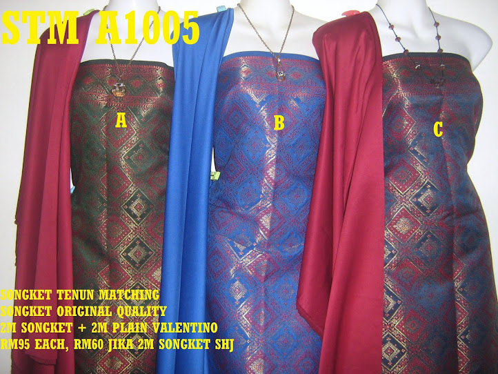 STM A1005: SONGKET TENUN MATCHING, HIGH QUALITY, 2M SONGKET + 2M PLAIN