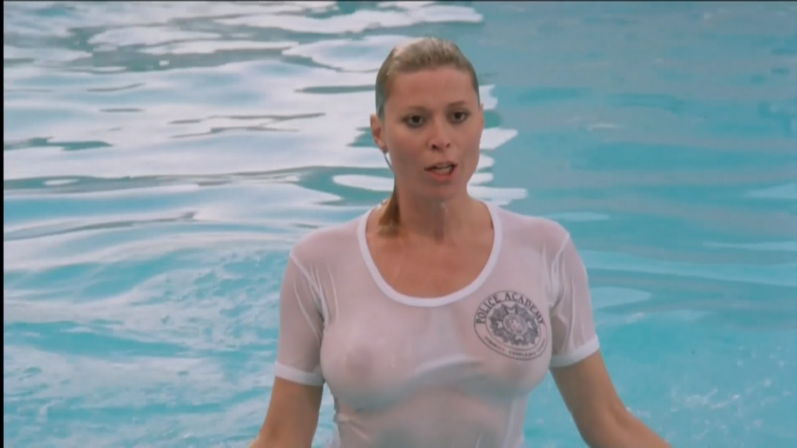 Leslie Easterbrook And Her Lovely Firm Boobs In Wet T Shirt