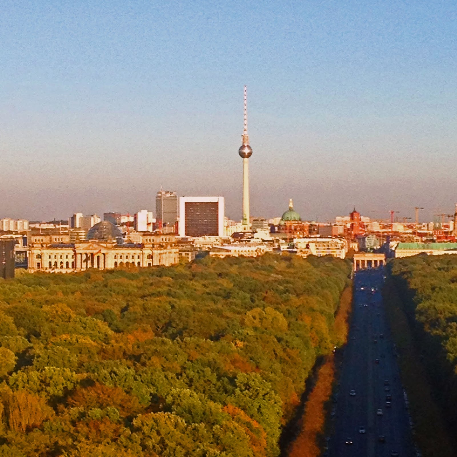 Although the berlin skyline isnt as famous as that of new york city i still find it beautiful