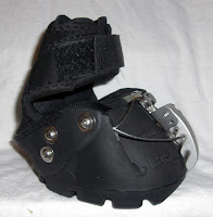 Central MA Based Farrier and Barefoot Trimmer Displaying an Easyboot Epic Side view