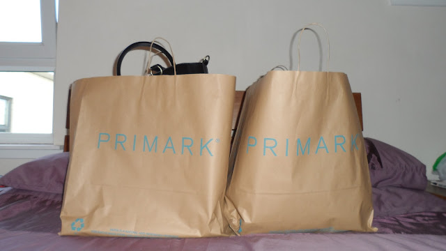 Large Primark brown paper bags