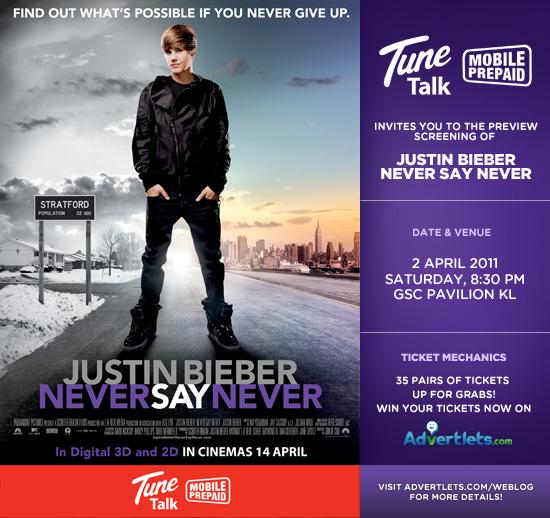 justin bieber never say never premiere 2011. Justin Bieber #39;Never Say