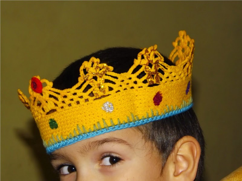 Corona de ganchillo