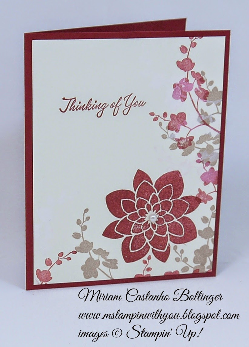 Miriam Castanho Bollinger, #mstampinwithyou, stampin up, demonstrator, F4A 254, crazy about you, world of dreams, su