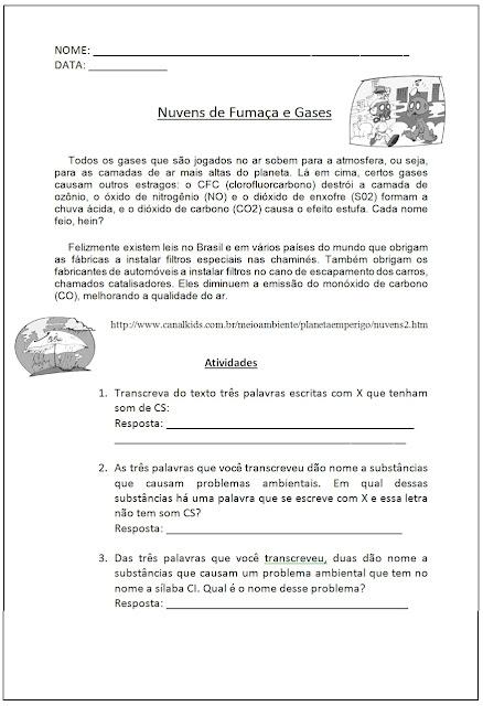 Leitura e Interpretação de Texto para 1 ou 2 ano