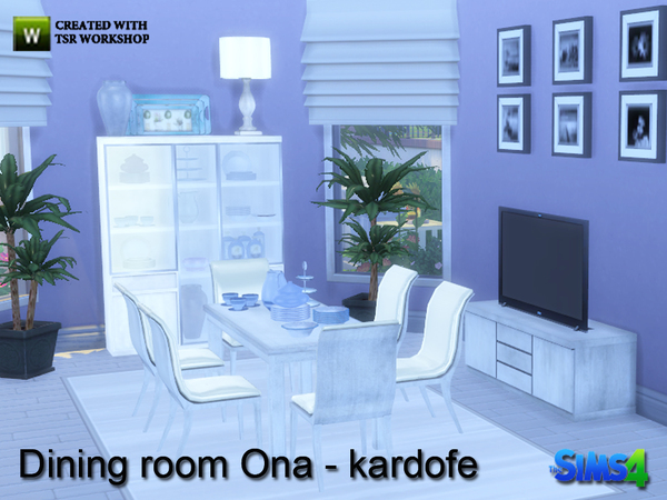 Ona Dining Room Set By Kardofe The Sims Resource