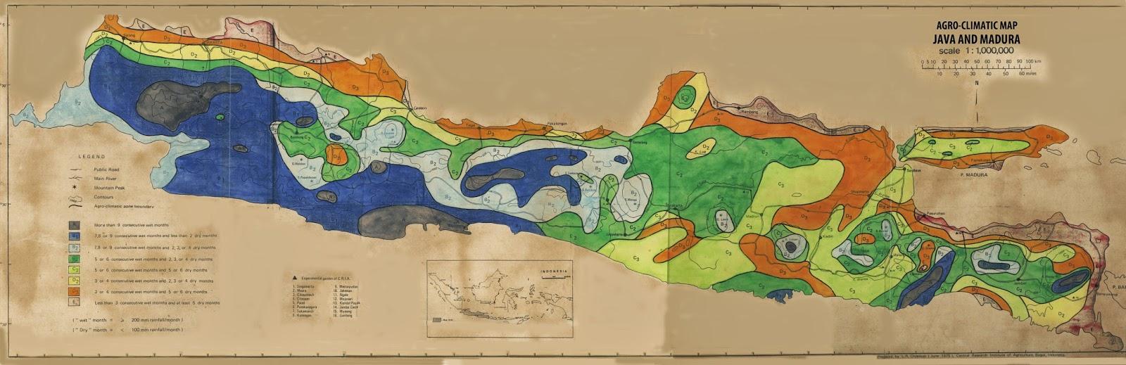 Peta Lengkap Indonesia Agroclimatic Pulau Jawa Madura Gambar Daerah